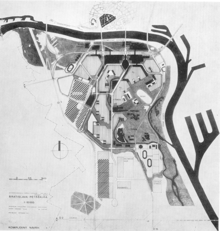 Petržalka – proposed original master plan