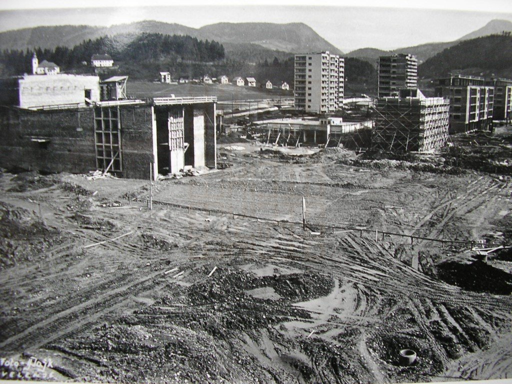 City centre during construction