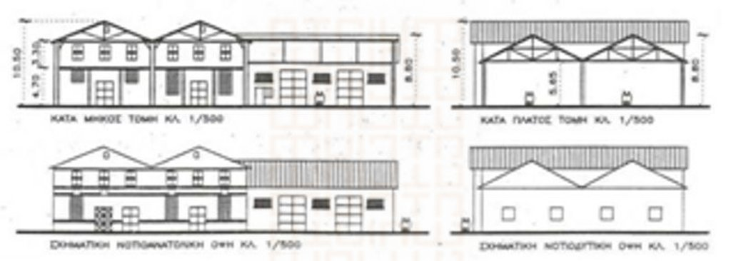 Warehouse B Elevations and Sections