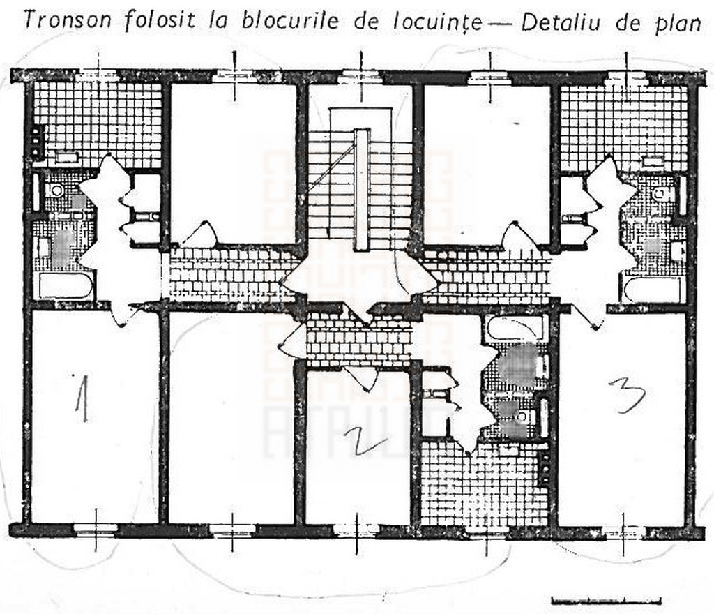 Bazilescu Theatre_housing section plan
