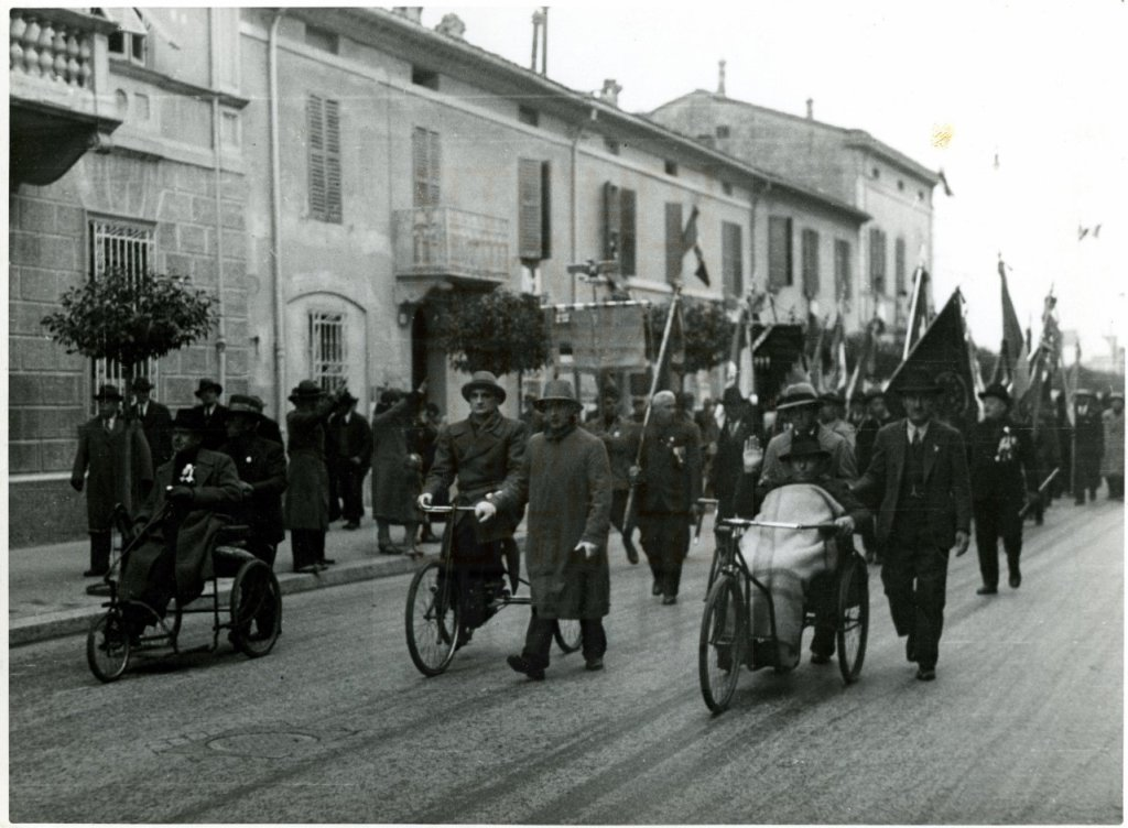 """Forlì, parade of war wounded"", 1920s-1930s"