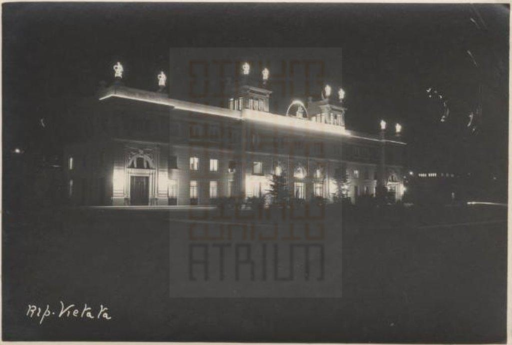 """Railway station of Forlì by night"""