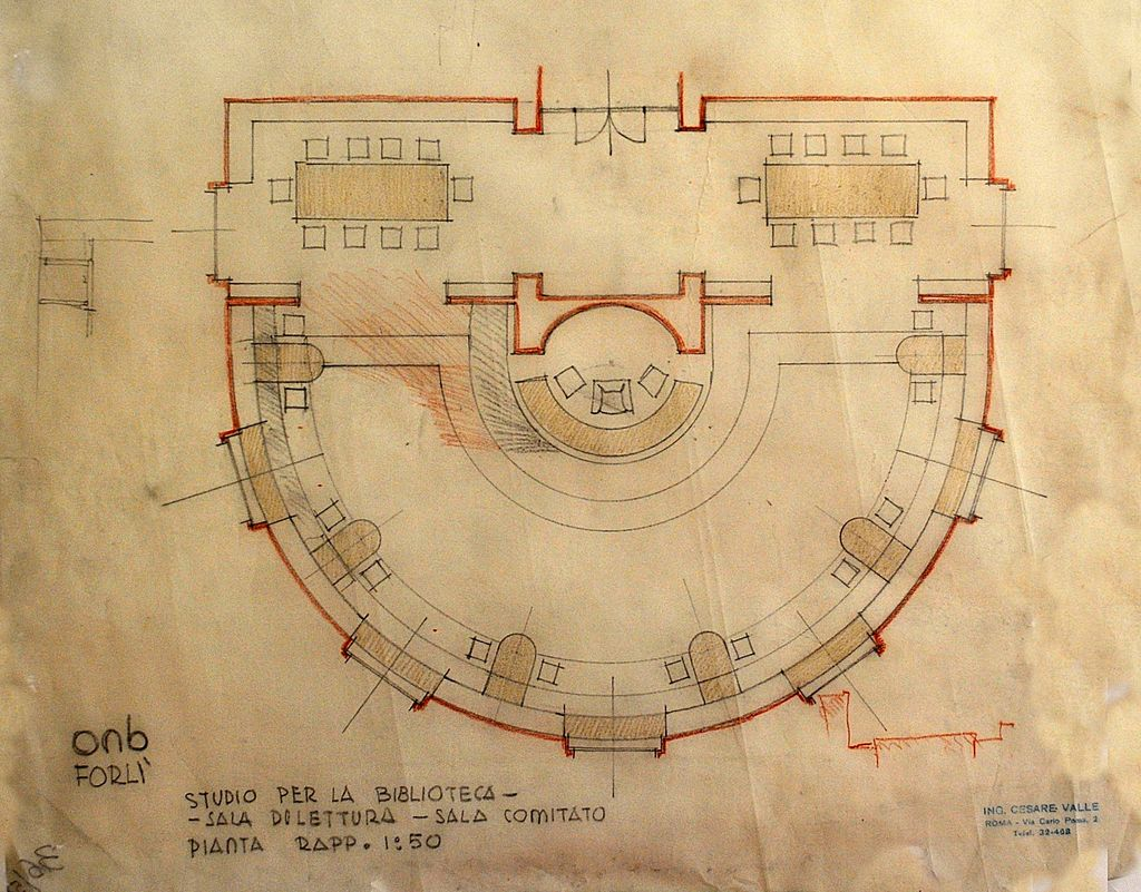 Original Plan: Ing. Cesare Valle-Project of Casa stadio Balilla A. Mussolini, 1933